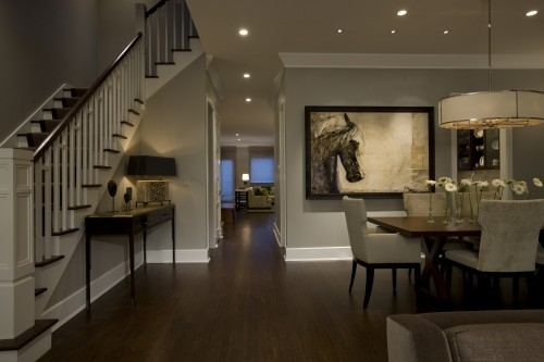 transitional dining rooms photo - 1