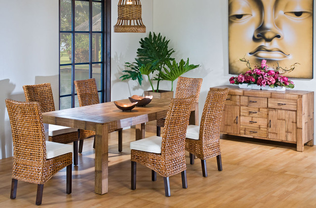 tropical dining chairs photo - 1
