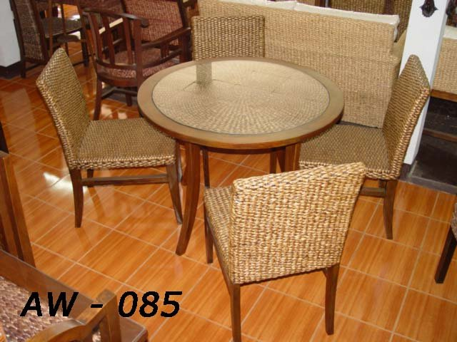 tropical dining room sets photo - 2