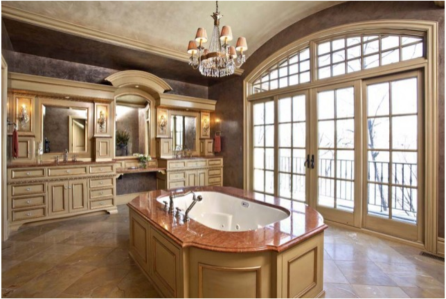 Nice Tuscan Bathroom Design