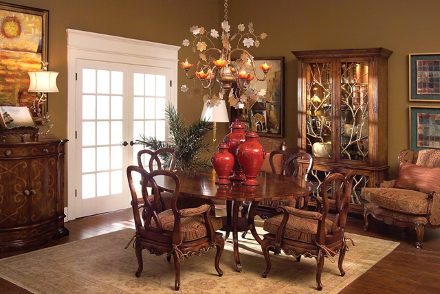 Tuscan style dining room - large and beautiful photos. Photo to ...