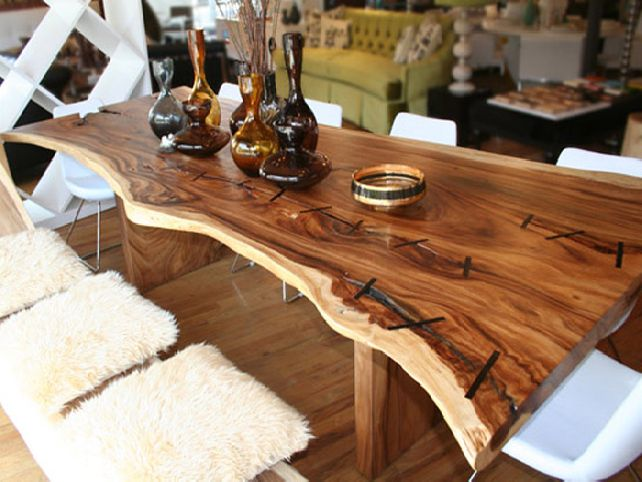 unusual dining room tables photo - 2