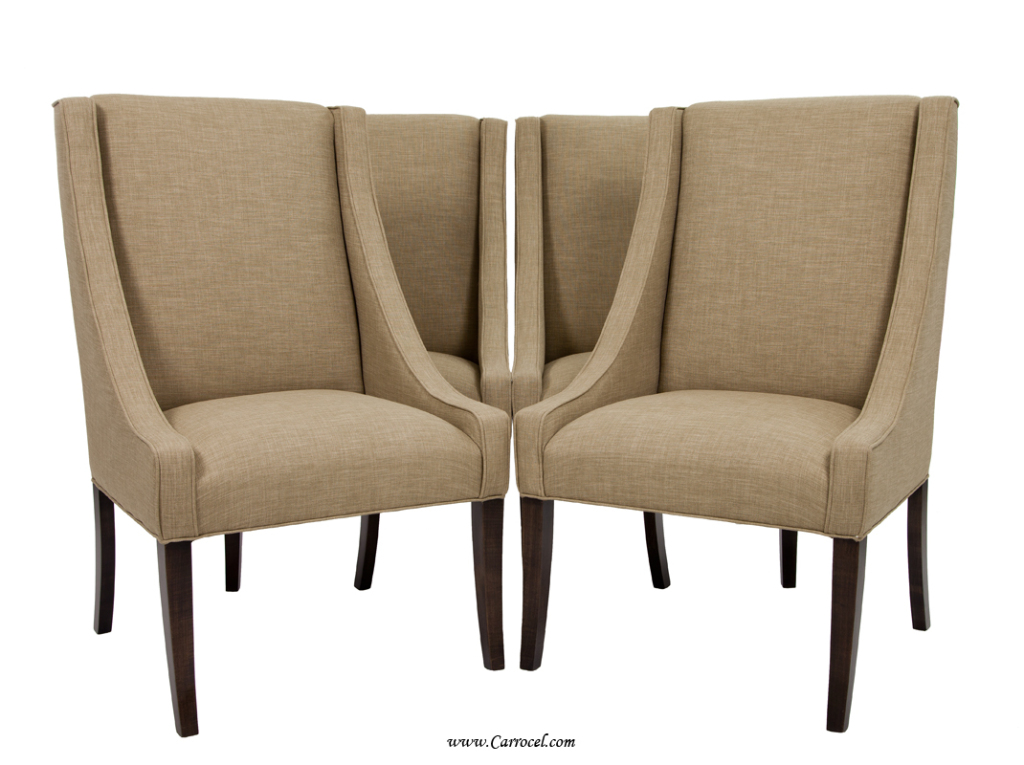 Upholstered dining room chairs large and beautiful for Large dining chairs
