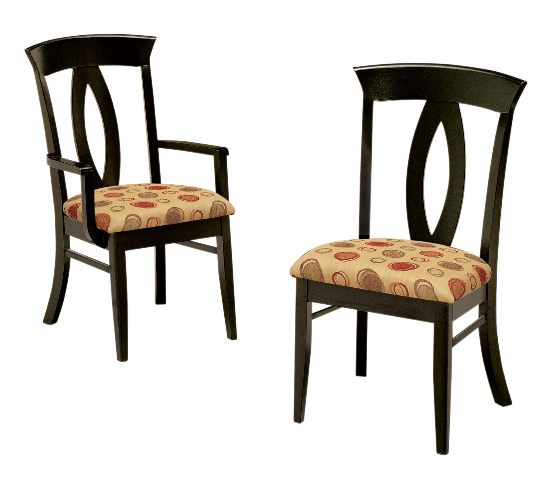 Upholstered dining room chairs large and beautiful for Dining room upholstered chairs