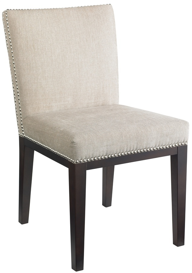upholstered nailhead dining chairs photo - 2
