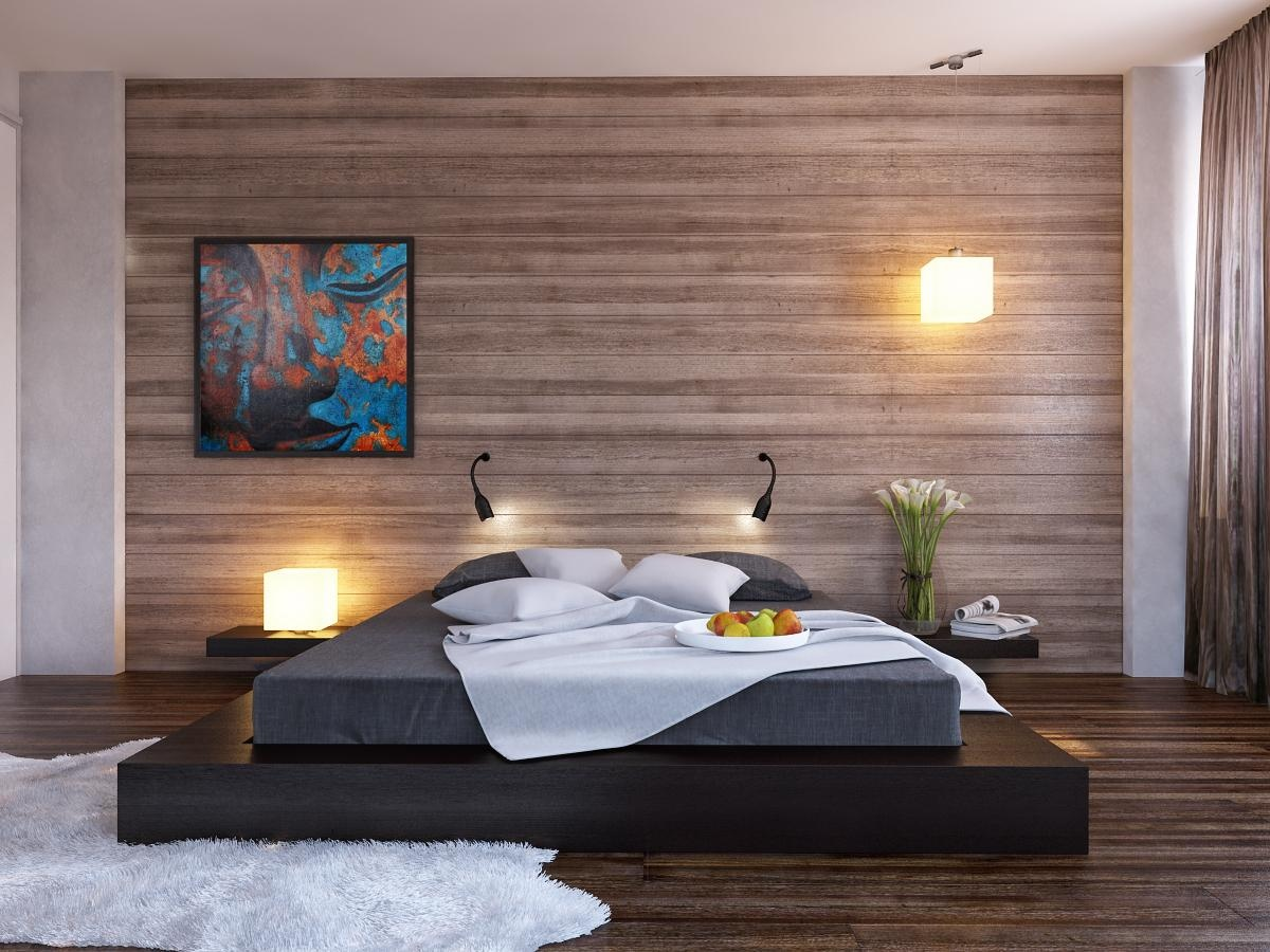 wall design ideas for bedroom photo - 2