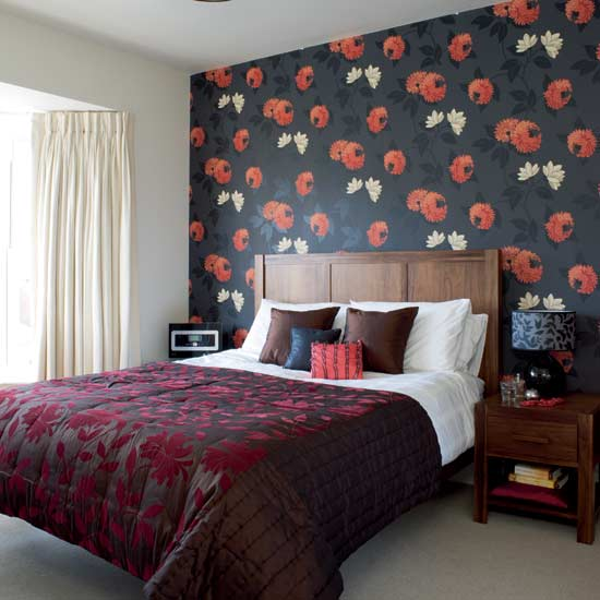 wall designs for bedroom photo - 2