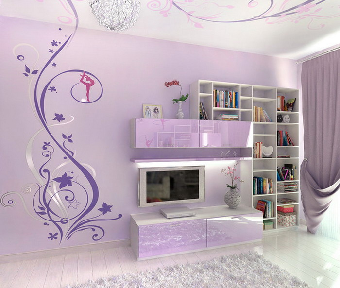 wall designs for teenage bedrooms photo - 1