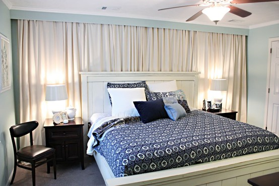 wall drapes for bedrooms photo - 1