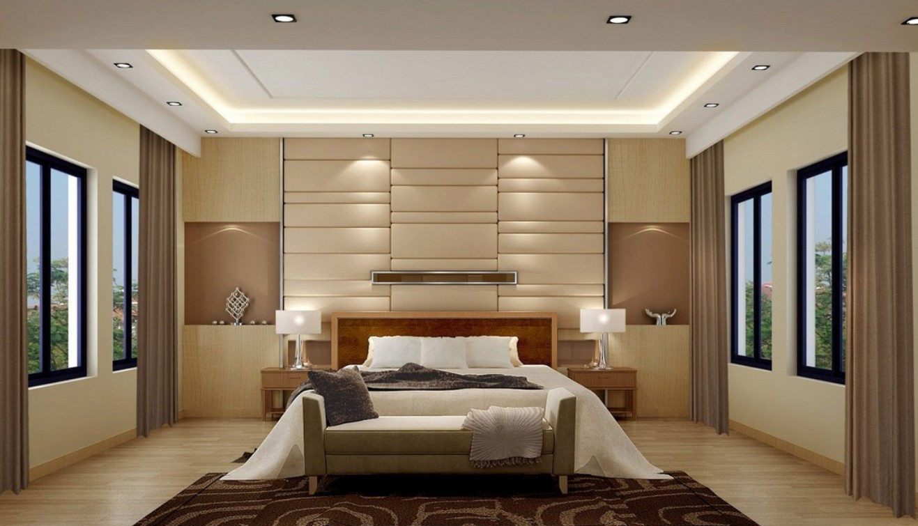wall ideas for bedroom photo - 2