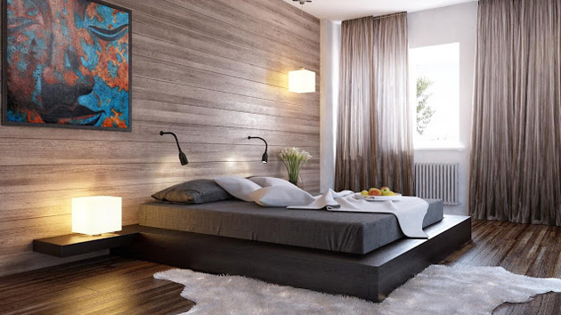 wall panels for bedroom photo - 2