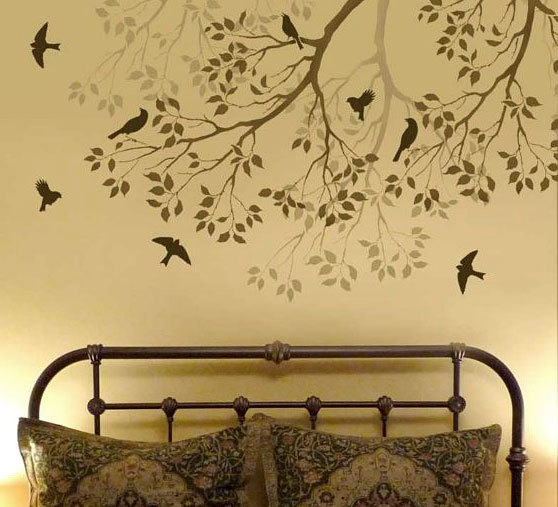 Wall stencils for bedroom - large and beautiful photos. Photo to ...