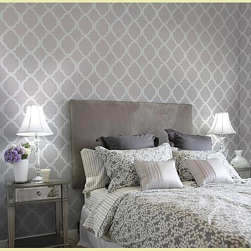 wall stencils for bedrooms photo - 2