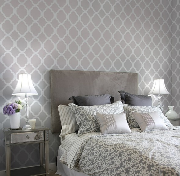 Charming Wallpaper Accent Wall Bedroom Photo   2 Part 15