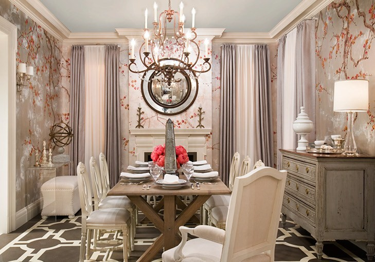 Lovely Wallpaper Dining Room Ideas   Large And Beautiful Photos. Photo To Select Wallpaper  Dining Room Ideas | Design Your Home Pictures