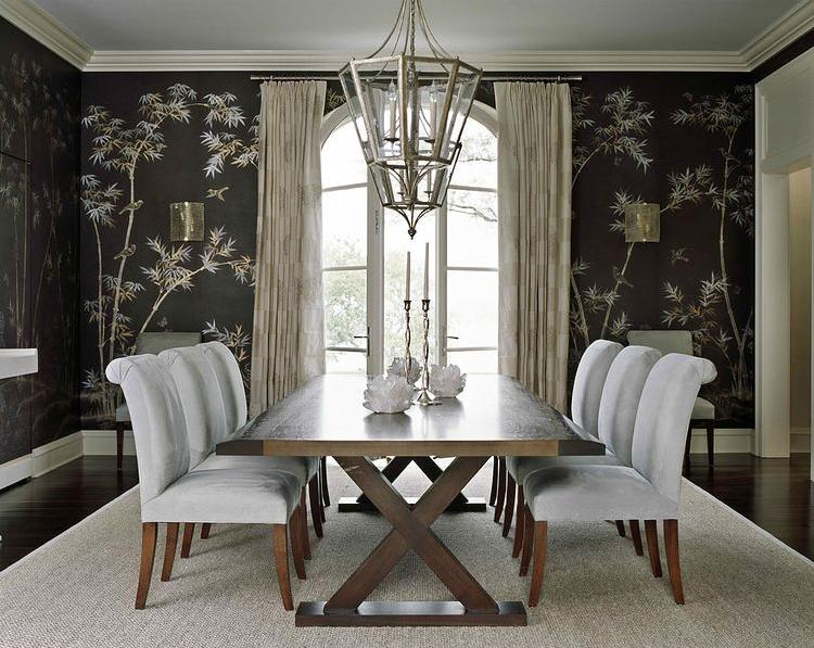 Wallpaper dining room ideas large and beautiful photos for Dining room wallpaper designs