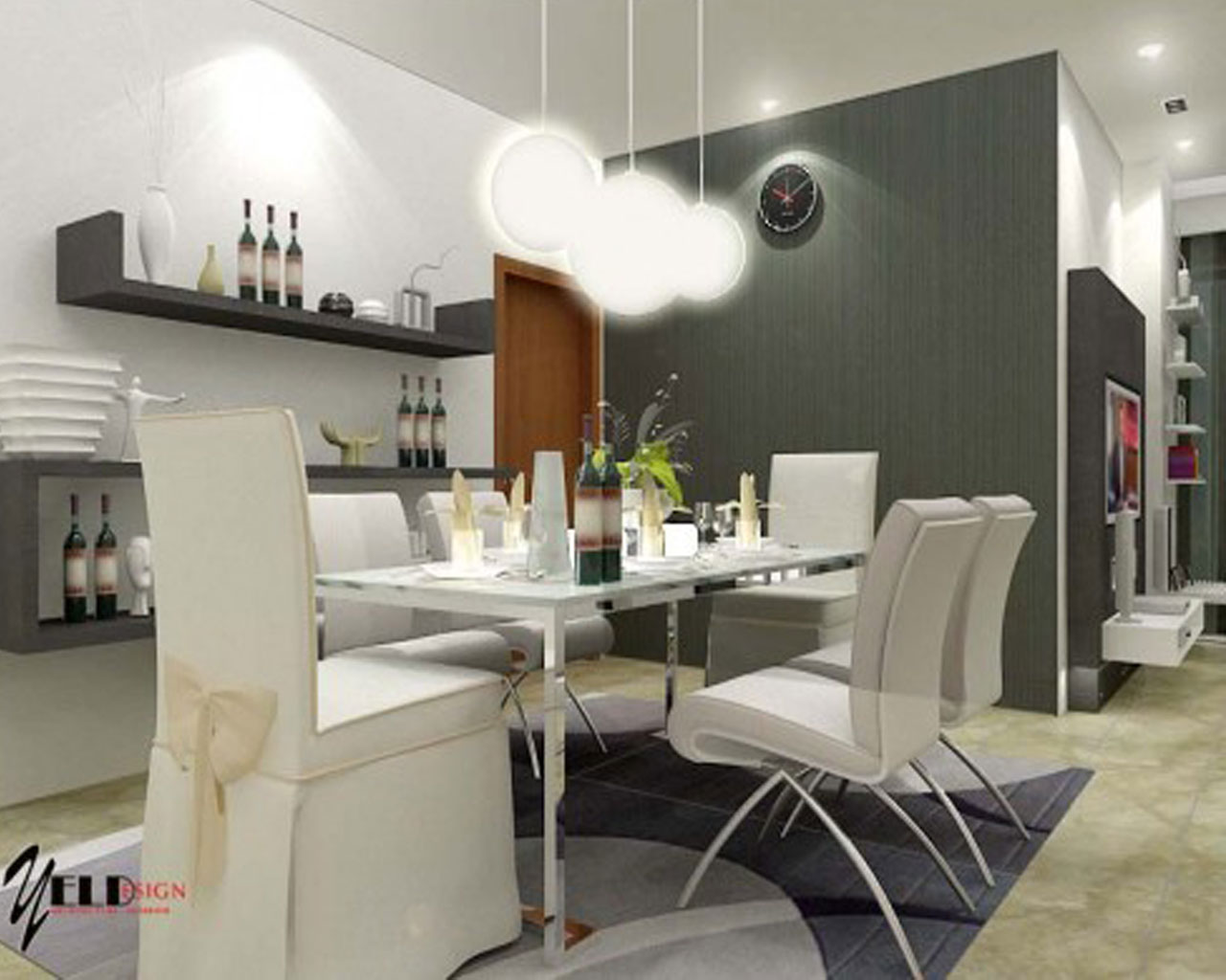 wallpaper for dining room ideas photo - 1