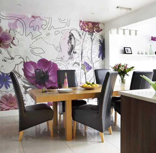 wallpaper for dining room ideas photo - 2