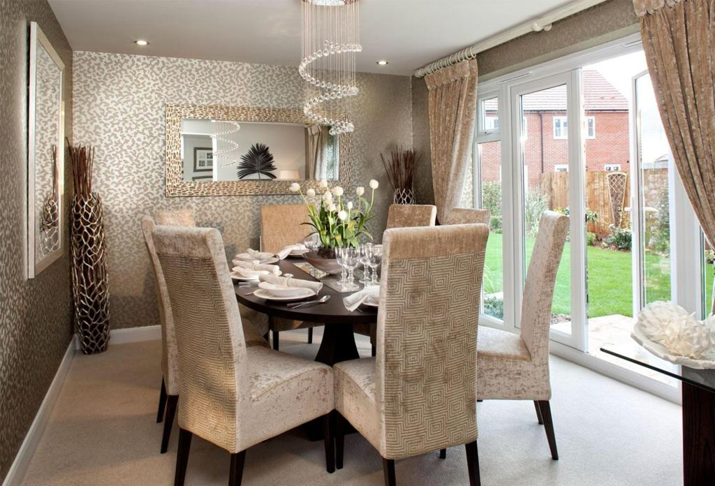 Wallpaper Ideas For Dining Room Large And Beautiful