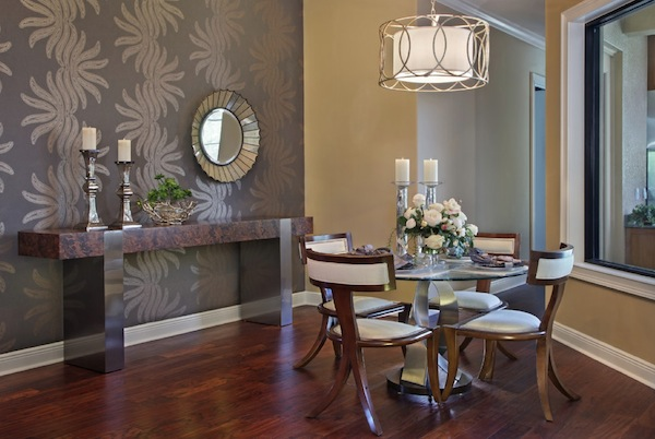 Superior Wallpaper In Dining Room