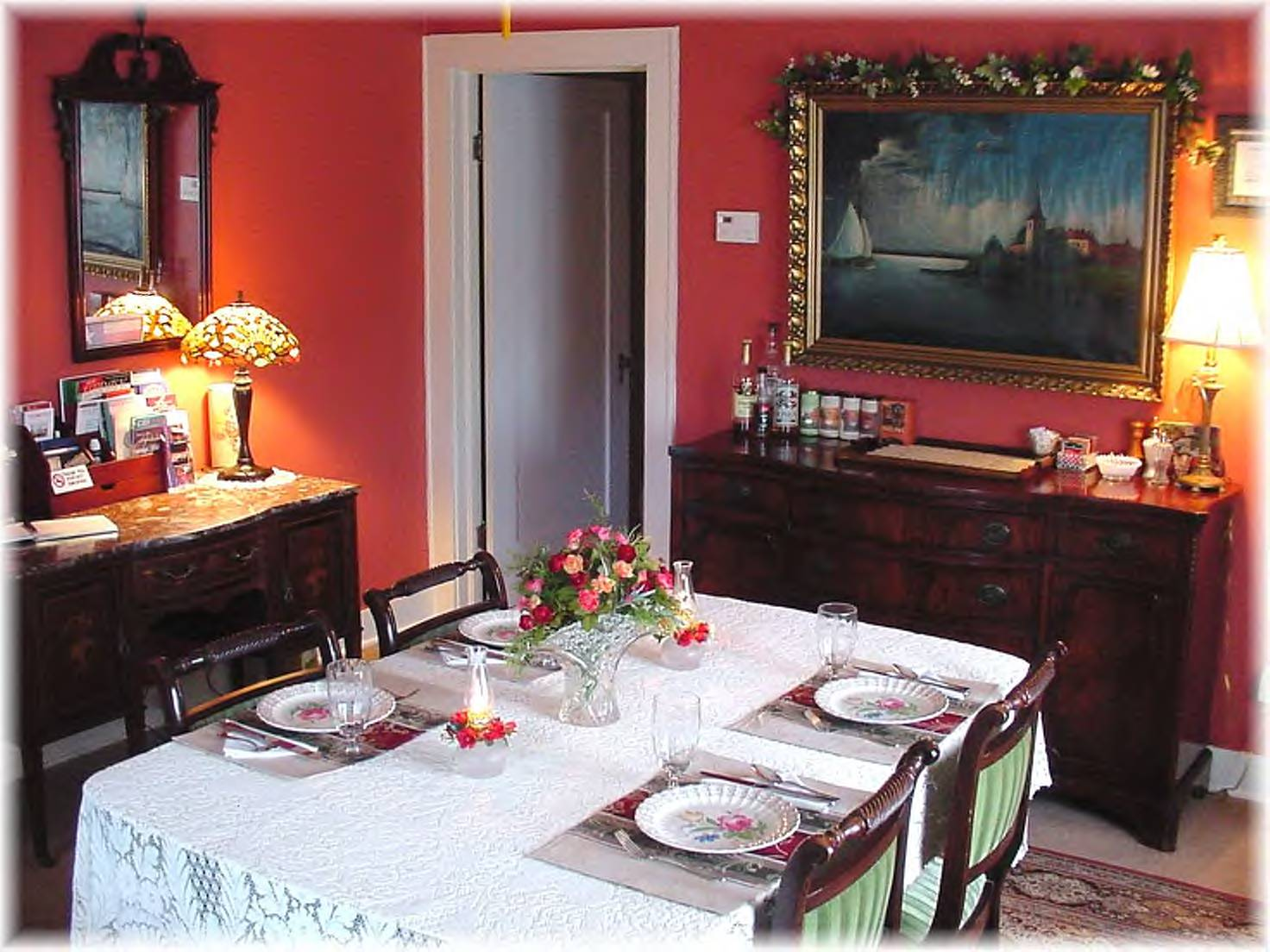 wallpaper in dining room photo - 2