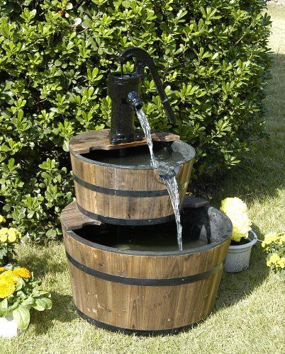 water fountain backyard photo - 2