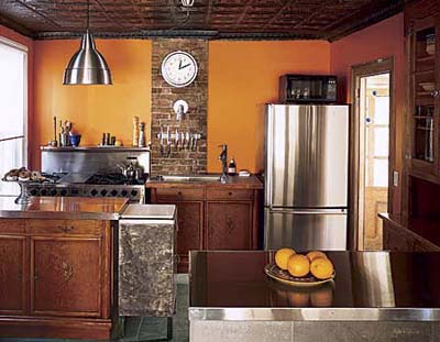 what color to paint a small kitchen photo - 1