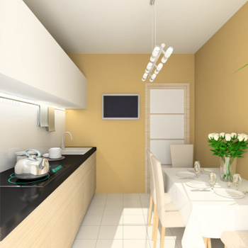 what color to paint a small kitchen photo - 2