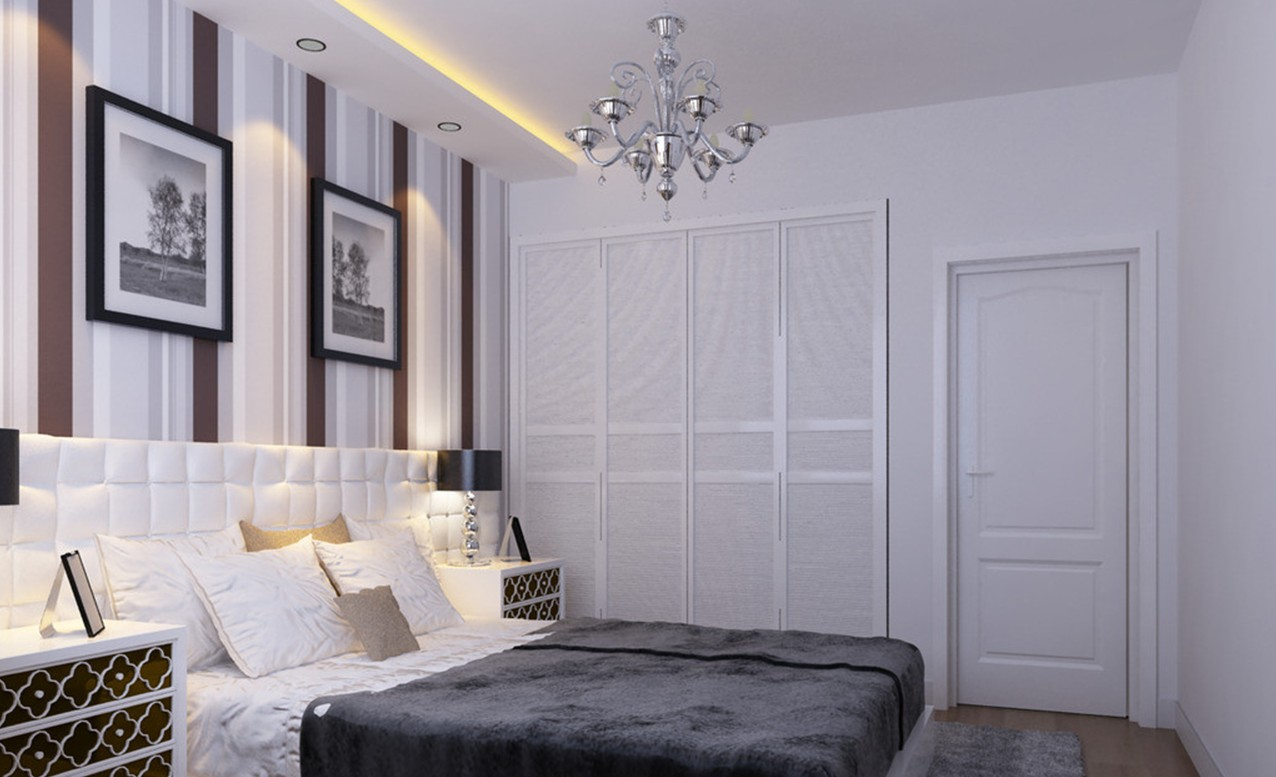 white bedroom walls photo - 2
