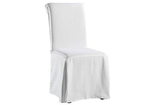 white dining chair covers photo - 2