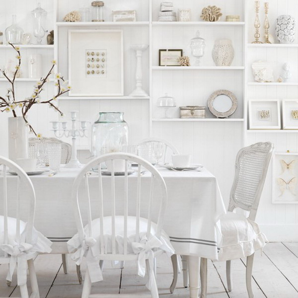 White dining room - large and beautiful photos. Photo to select ...