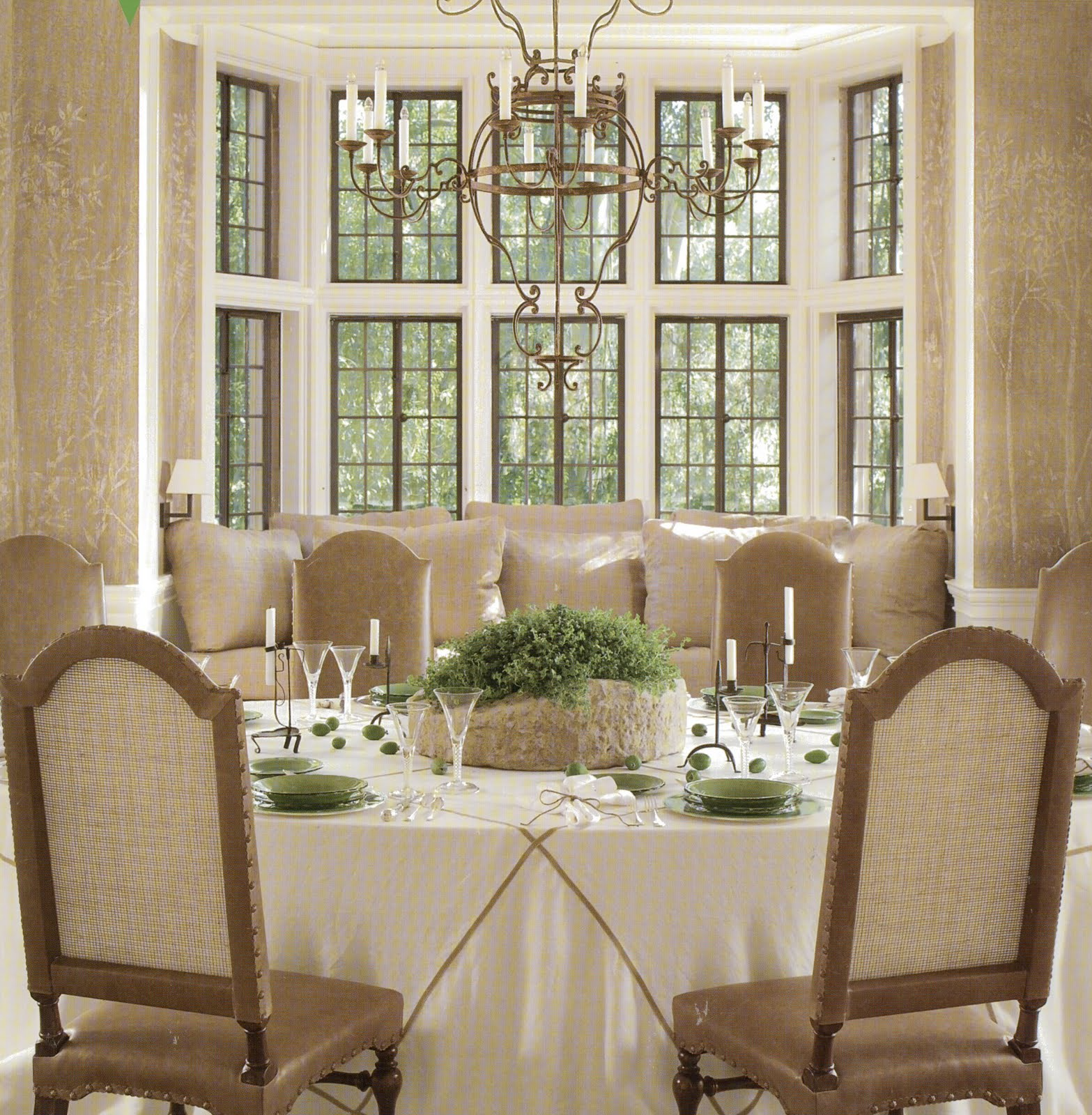 window treatment for dining room photo - 2