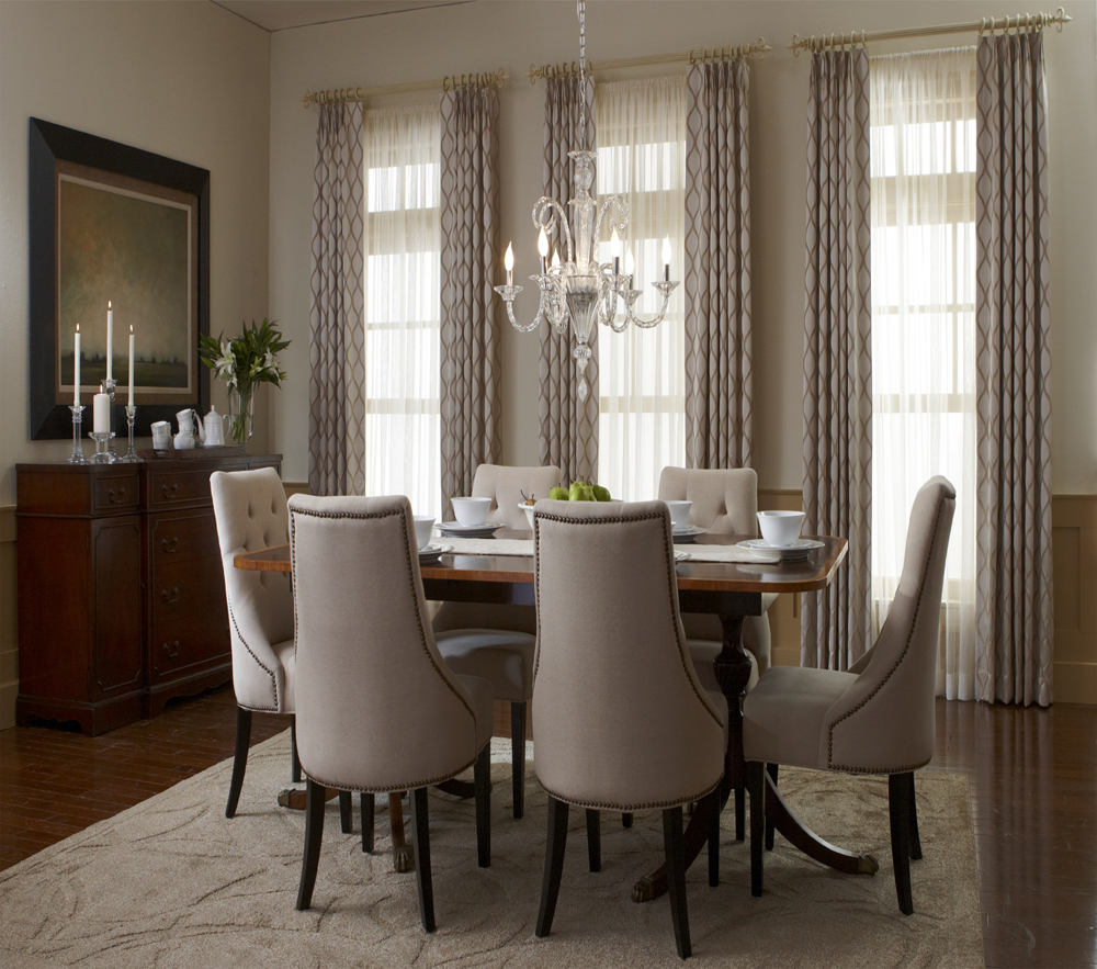 Window treatments for dining room large and beautiful Dining room window curtains