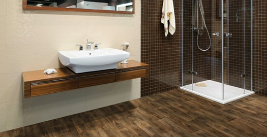 Wood flooring for bathrooms large and beautiful photos for Hardwood floor in bathroom