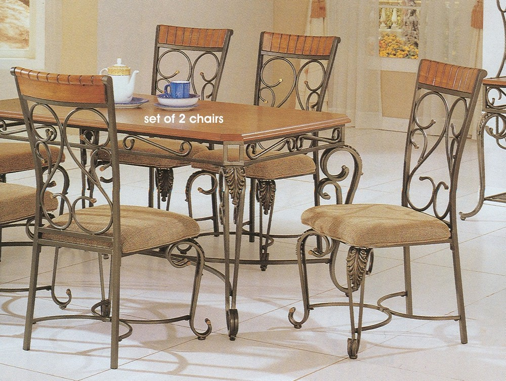 Wrought iron dining room chairs - large and beautiful photos. Photo ...