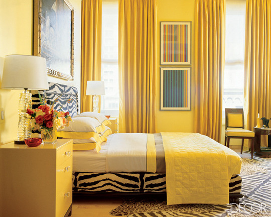 yellow bedroom walls photo - 2