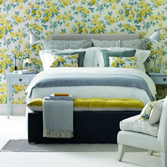 yellow color schemes for bedrooms photo - 2