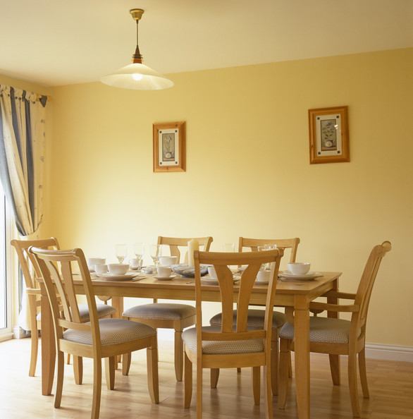 yellow dining room photo - 2