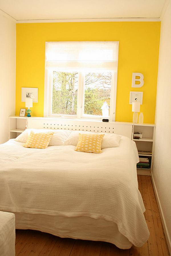 yellow walls in bedroom photo - 1